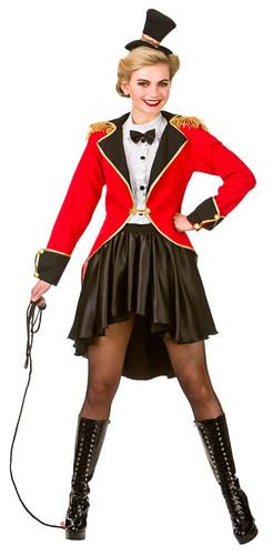 Ringmaster Tailcoat Womens Costume Circus Ladies Fancy Dress Outfit Showman