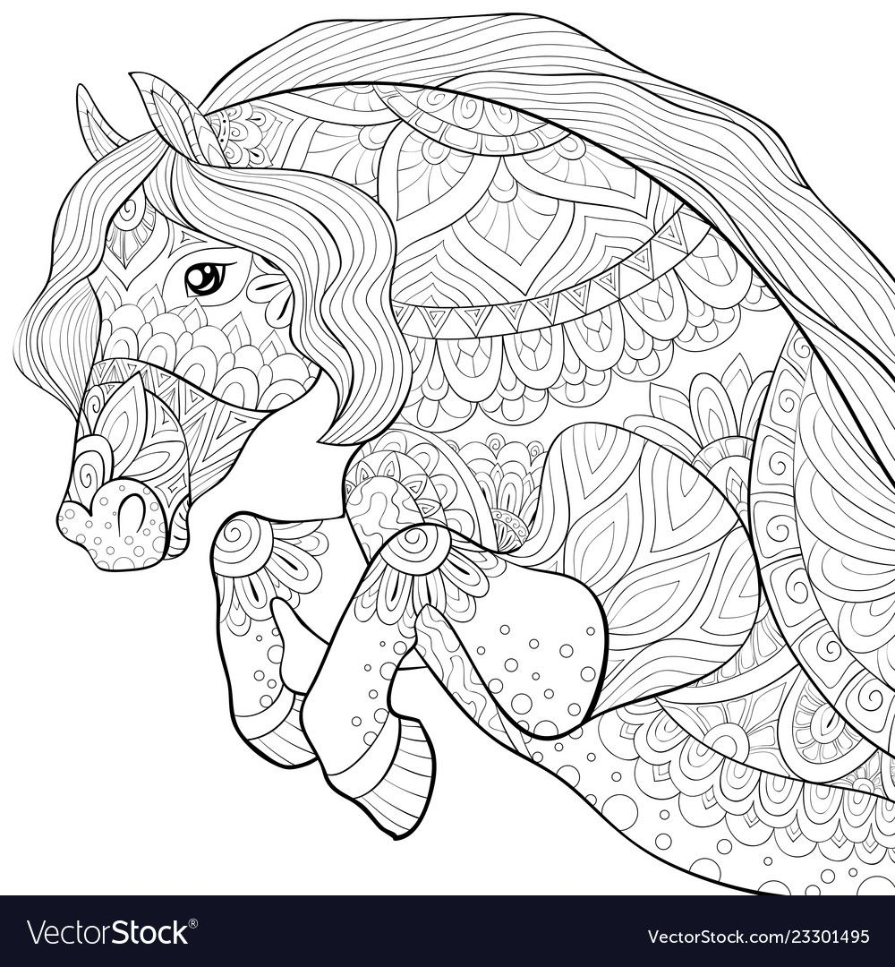 Blank Horse Pictures To Color