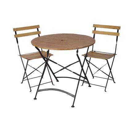 Ensemble lattée vernis : des tables et de chaises pour vos ...
