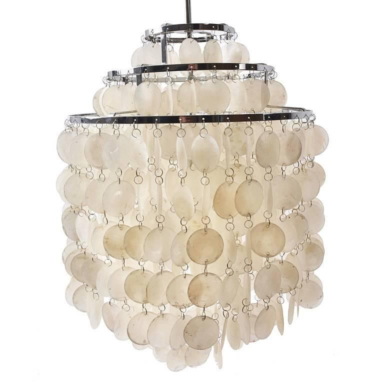 Verner Panton Fun 1 S Lamps Chandelier With Frame Of