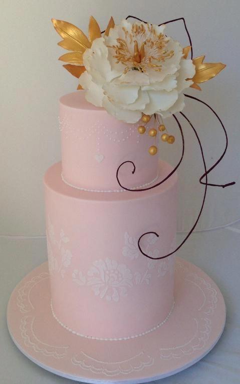 Modern 2-tier Wedding Cake by Diana Taylor | Cake ...