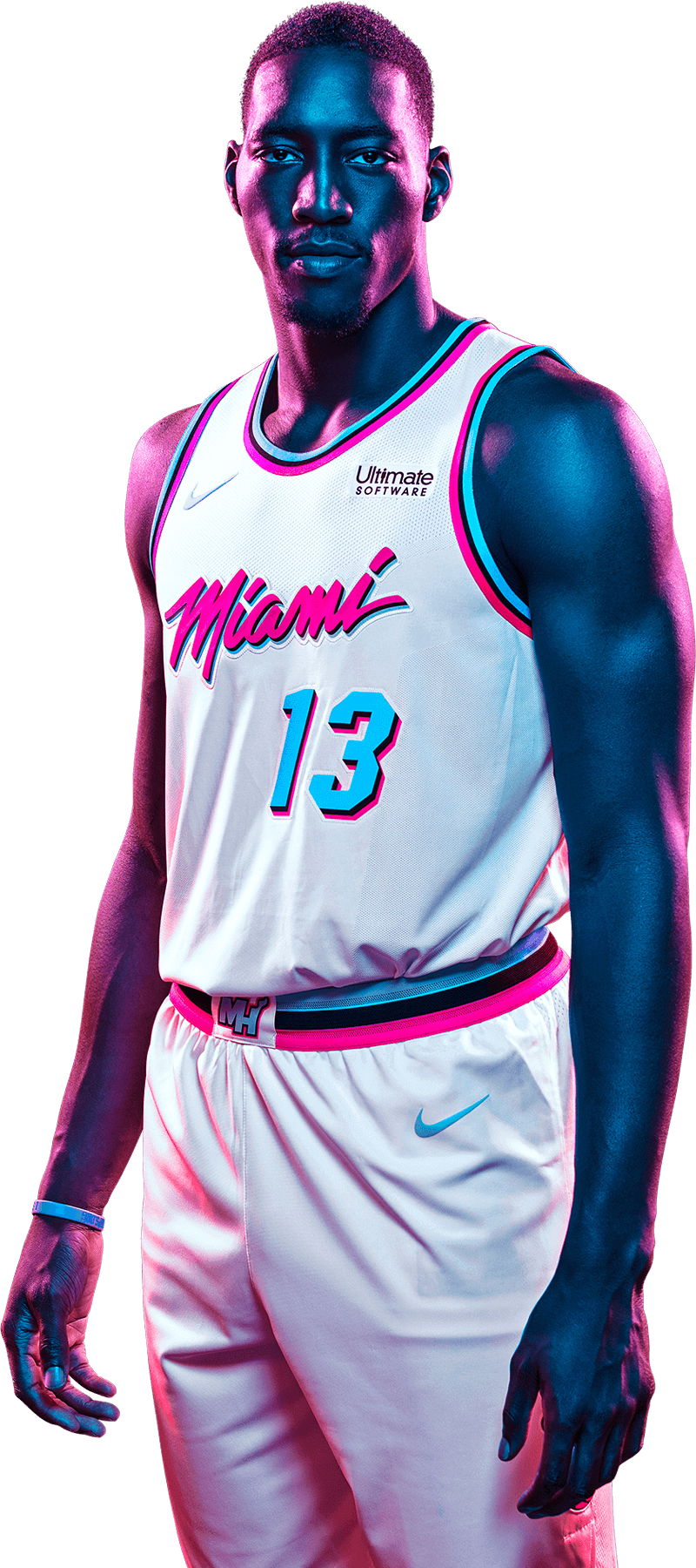Vice Uniform Bam Adebayo In 2020 Sports Design Inspiration Miami Heat Nba Basketball Art