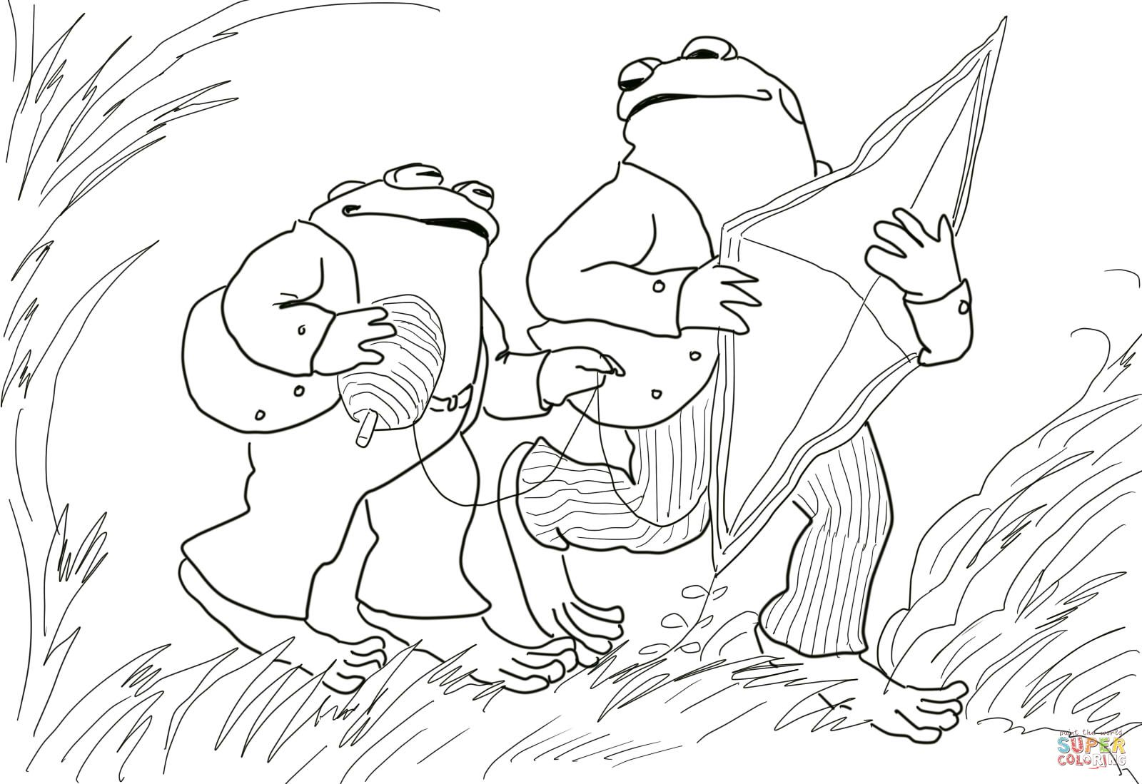 Frog Toad Coloring Pages