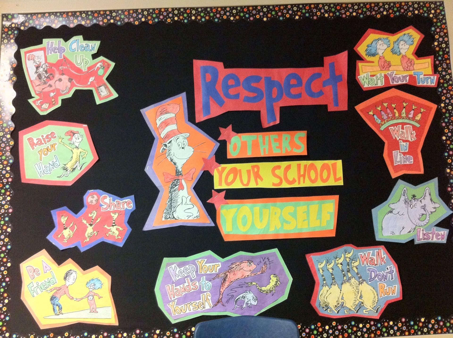 Dr Seuss Respect Bulletin Board