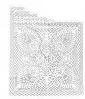 Tina's handicraft : shorts with built-topaki pineaple stitch