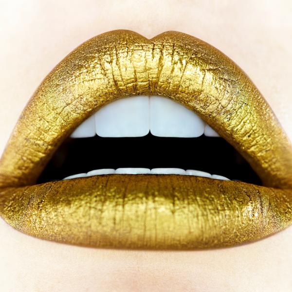 Gold Lips Giuliano Bekor Gold Lipstick Gold Lips Lipstick Photos