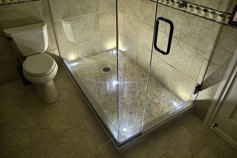 Exceptionnel LED Shower Lighting Using Indoor Dek Dots LED Recessed Light Kit
