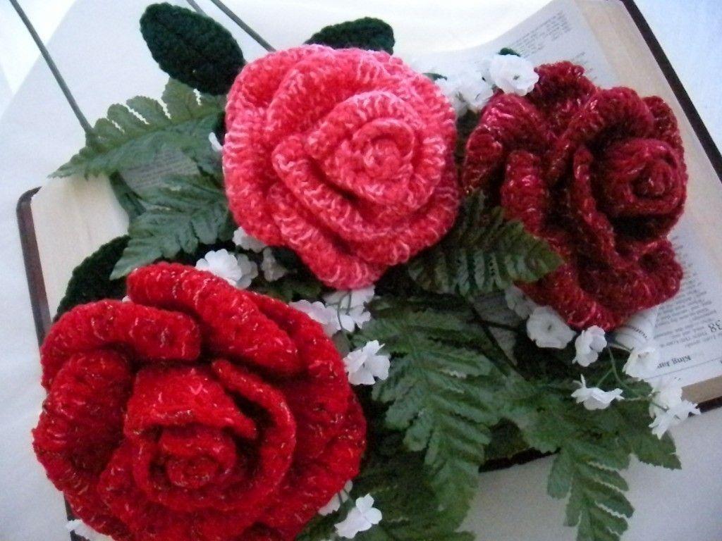 Printable Crochet Rose Patterns Pink Bouquet Pattern Flower Diagram Favecraftscom