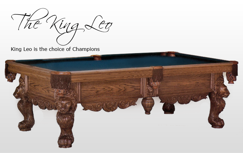 The King Leo (shown In Oak With English Oak Finish) Make The King Leo The  Trophy Of Your Game Room! Intricately Fully Carved Lion Legs, Hard Carved  Lion ...