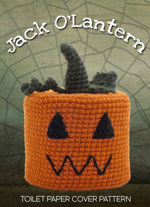 Jack Olantern Crocheted Toilet Paper Cover Pattern In