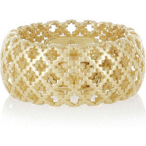 c9aaa789f Gucci Diamantissima 18-karat gold ring ($1,130) ❤ liked on Polyvore ...