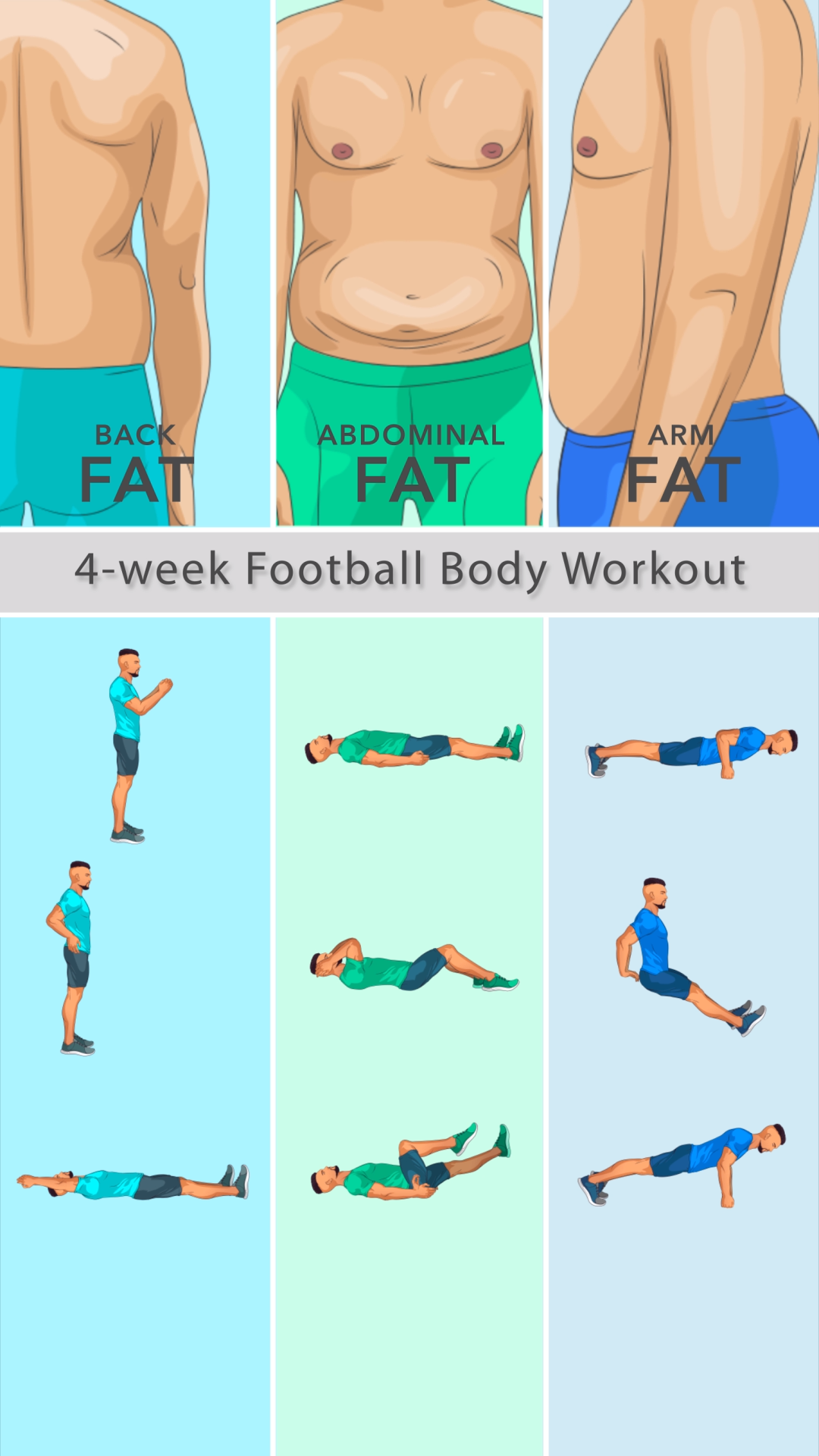 Install now! Fitness Workout by GetFit is all you need to keep yourself in a perfect shape and lose weight fast! It's totally okay to exercise at home with no equipment  is part of Gym workout chart -