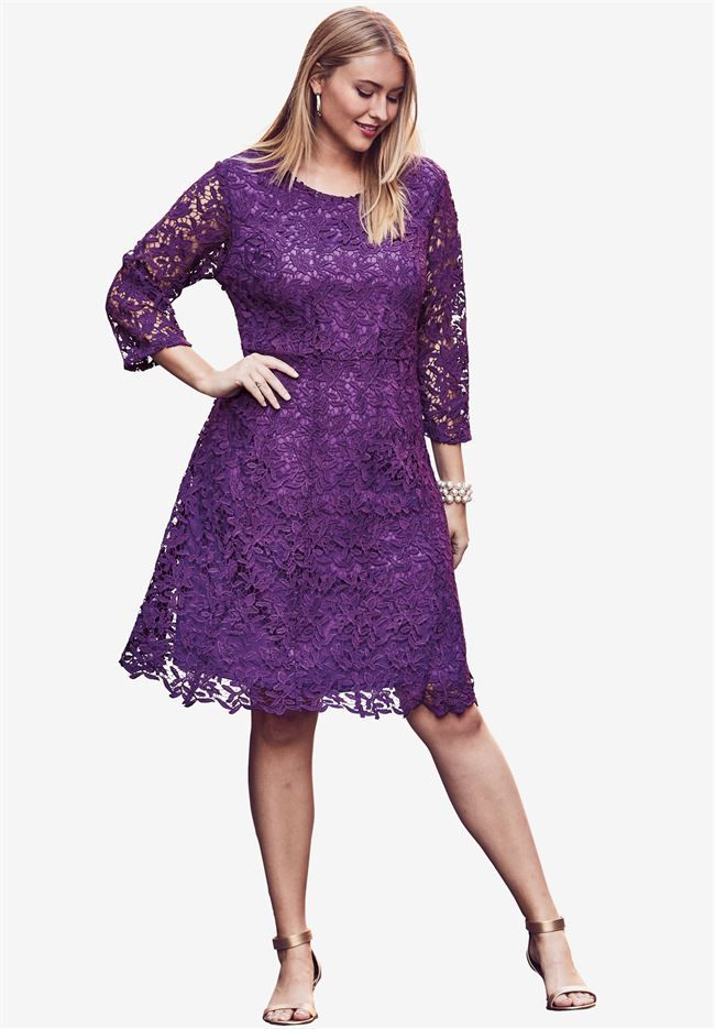 Lace Fit & Flare Dress | clothes,shoes,hairstyles,nails,makeup ...