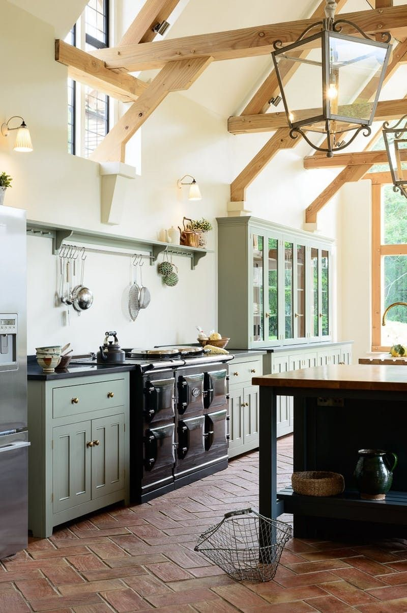 Not Into Open Shelving You Ll Love This New Trend For Kitchen Storage Country Kitchen Designs Devol Kitchens Open Shelving