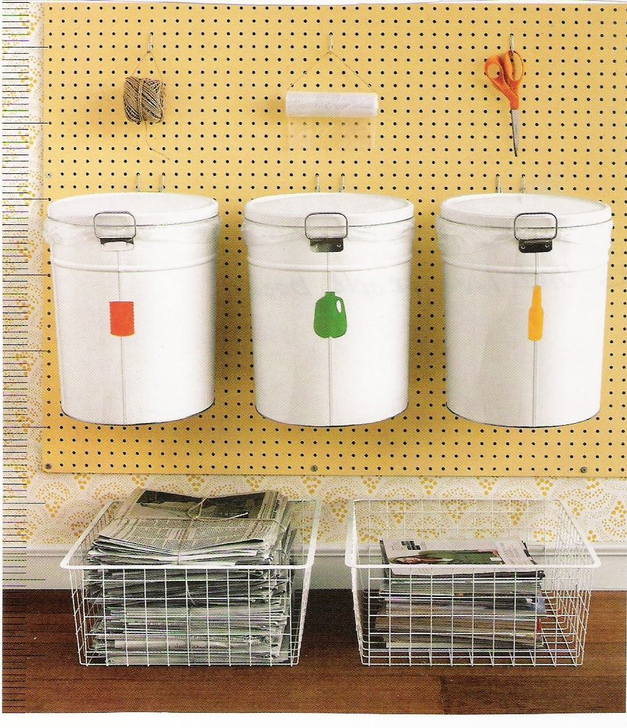 a great recycling center for the home recycling station dollar store organizing recycling center on kitchen organization recycling id=14892