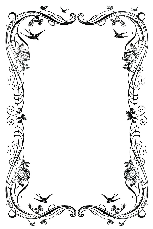 19 decorative border designs images free clip art borders free  [ 1005 x 1500 Pixel ]