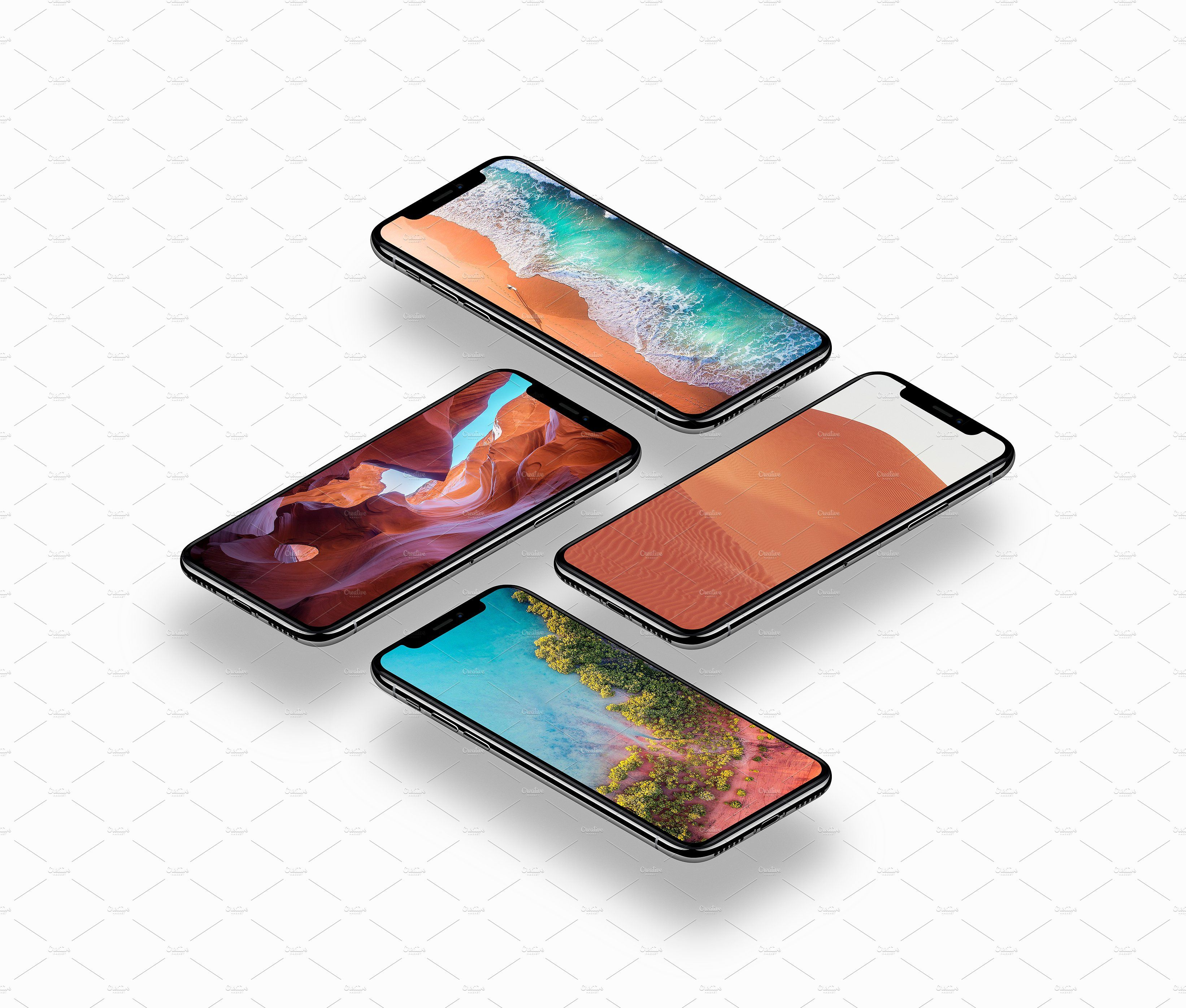 Phone X 16 Mockups (With images) Mockup, Apple iphone