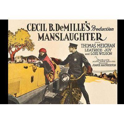 Buyenlarge 'Manslaughter' Vintage Advertisement