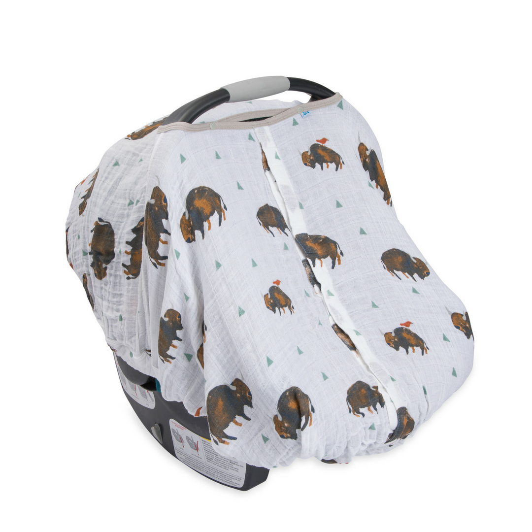 Cotton Muslin Car Seat Canopy - Bison – Project Nursery
