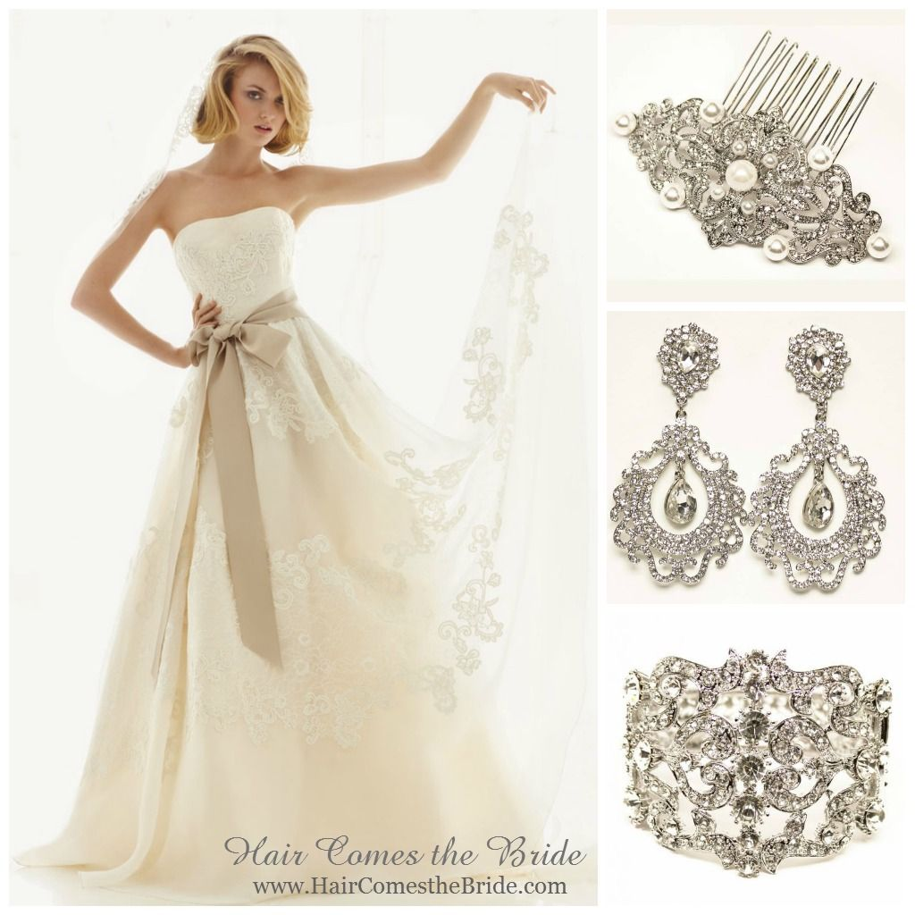 Wedding dress jewelry  Melissa Sweet MS  Bridal Hair Accessories and Jewelry Ideas