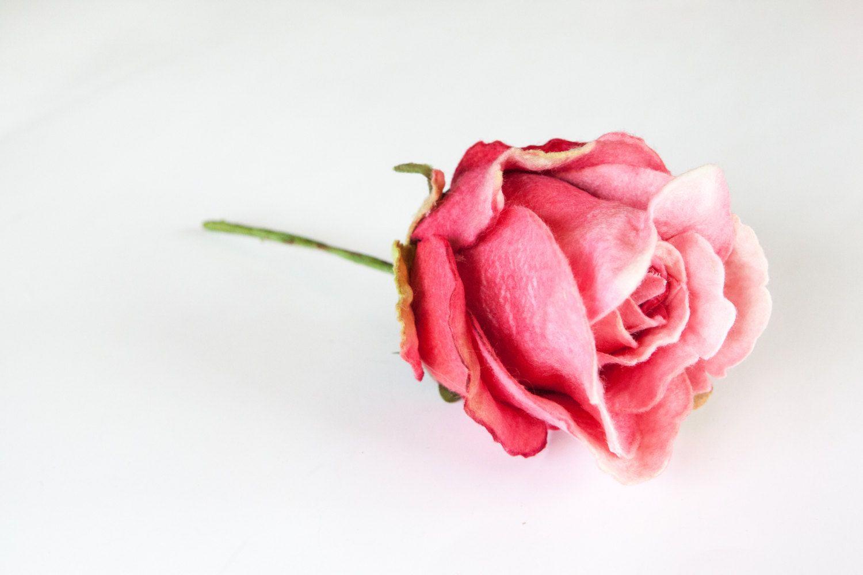 Pink Tones Felt Rose Pick Artificial Flowers Item 0424 By