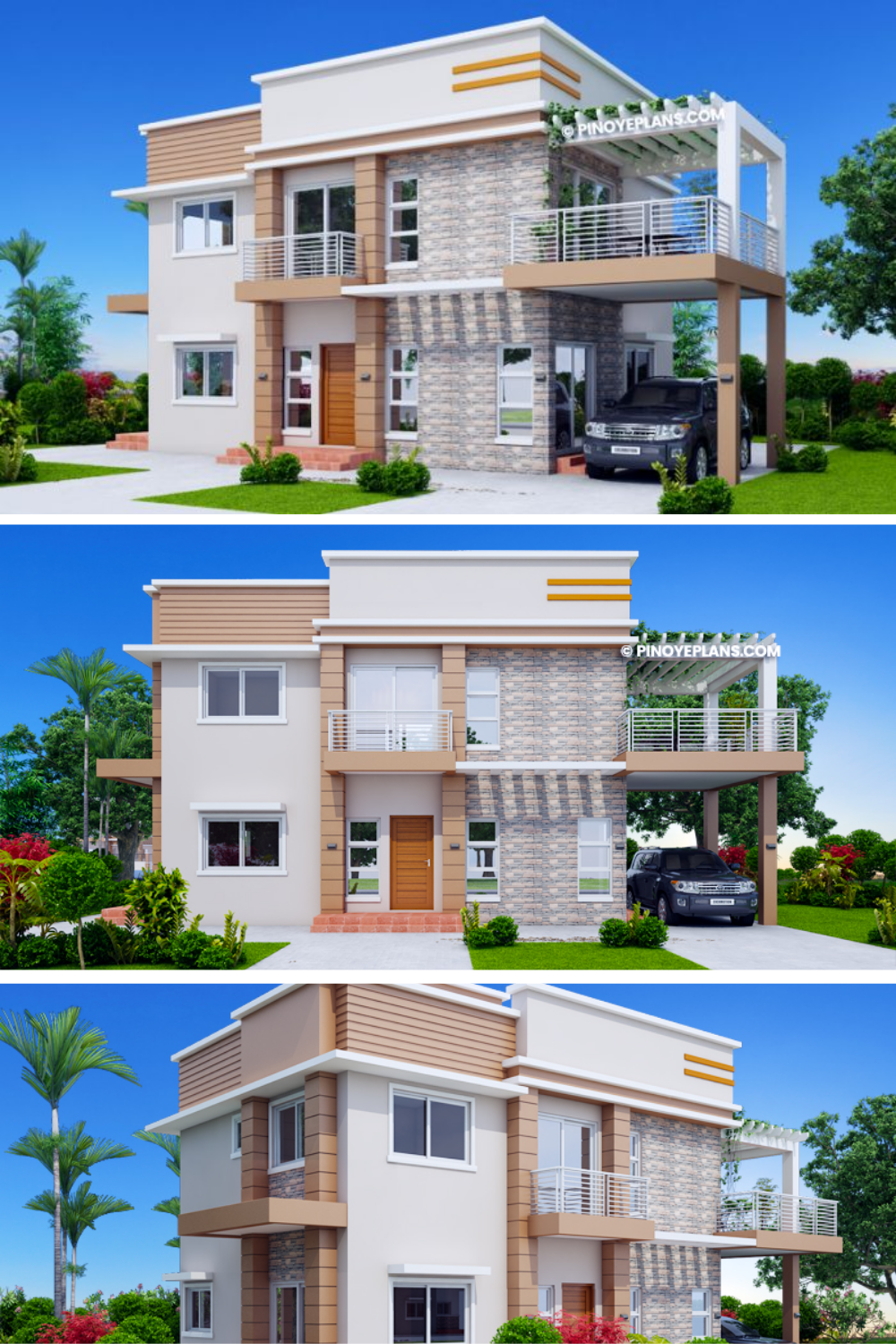 Pin on Two Storey House Plans with Roof Deck