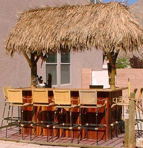 how to build outdoor bamboo tiki bar