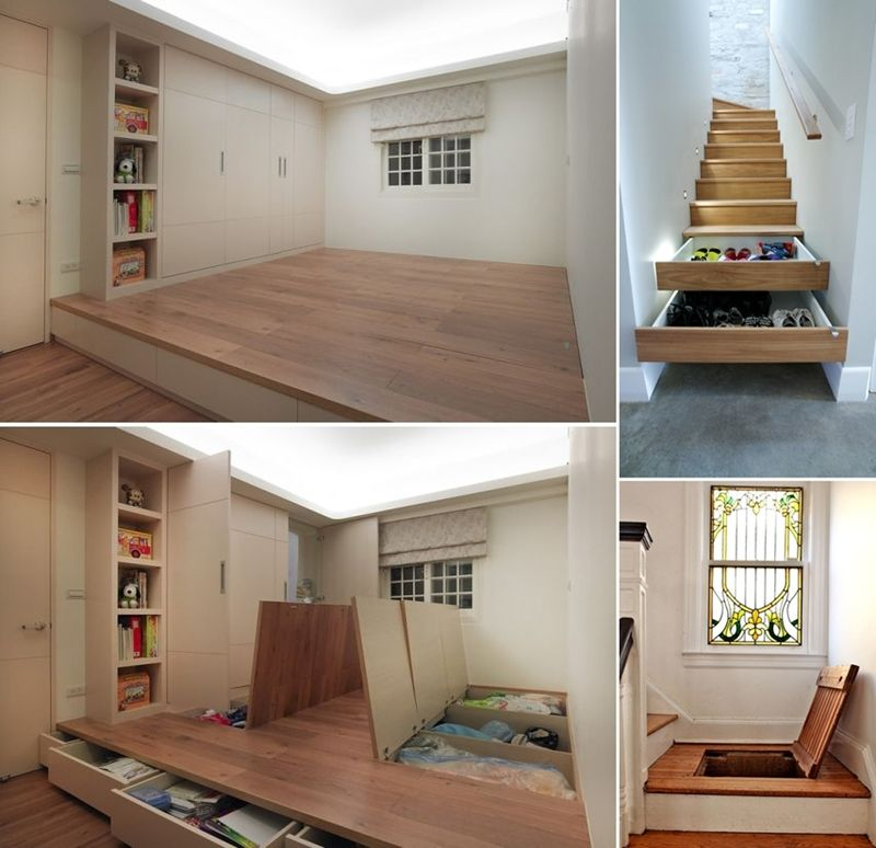 5 Clever Hideaway Storage Ideas for Your Home - http://www ...