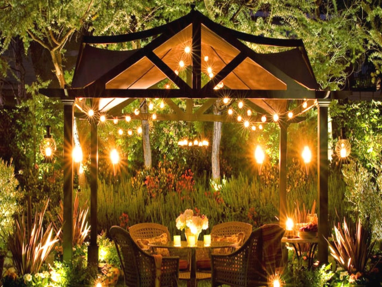 Easy Diy Patio Lighting Projects You Can Create Yourself To Accent Your Decks Overhead Patio Outdoor Lighting Design Backyard Lighting Backyard Lighting Diy