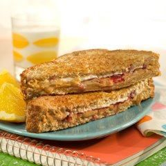 Grilled P.B & J.  I've been adding both to my grilled cheese for over 30 years.  Love it <3
