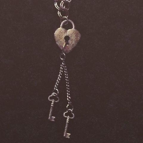 "Heart padlock necklace with two old fashioned keys on chains, 16"" #boymom #keystomyheart #heartjewelry #texasgirl #texasstyle #silverjewelry #steampunk #handcrafted #handcraftedjewelry #customjewelry #amandanancedesigns #necklaces #madeintexas #goth #gothstyle #gothic #gothicstyle #steampunkstyle #steampunkjewelry #madeintexas"