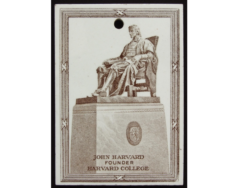 Harvard Calendar.Harvard University Wedgwood Calendar Tile Circa 1921 John Harvard