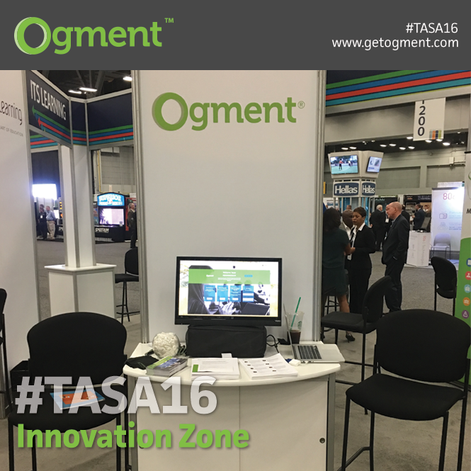 @GetOgment is proud to have been a part of #TASA16 Innovation Zone. Thanks for having us, Austin!!