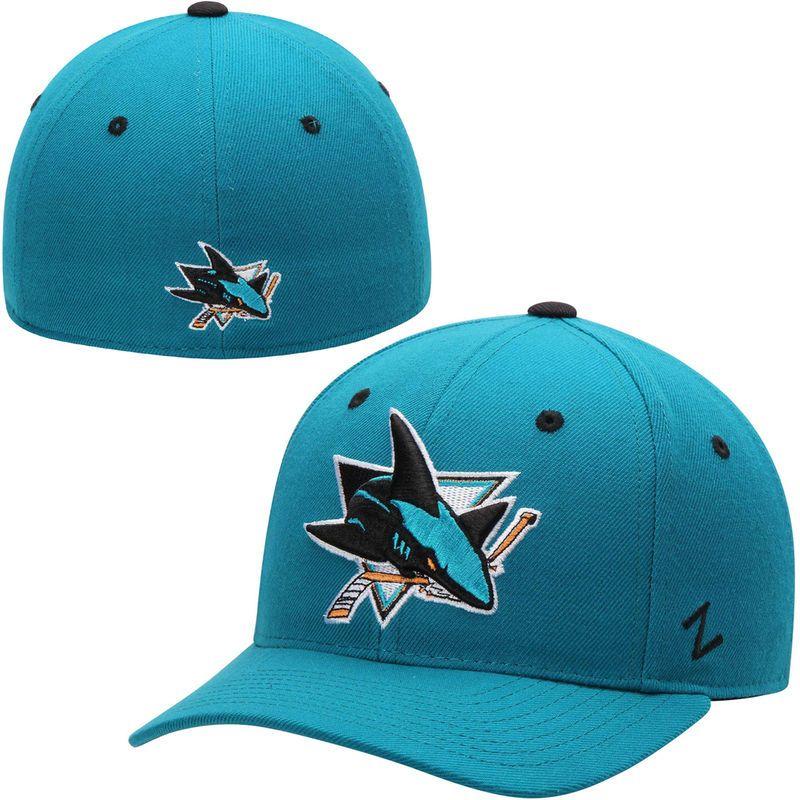 San Jose Sharks Zephyr Crosscheck Fitted Hat – Teal