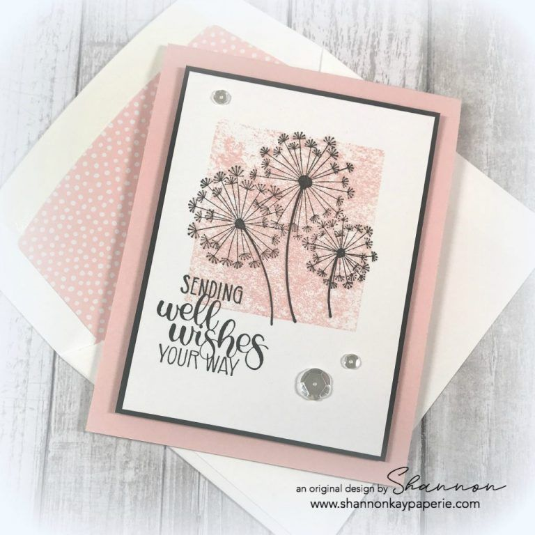 Stampin Up Dandelion Wishes Get Well Cards Idea Shannon Jaramillo Stampinup Su Get Well Cards Stampin Up Sympathy Cards Dandelion Wish