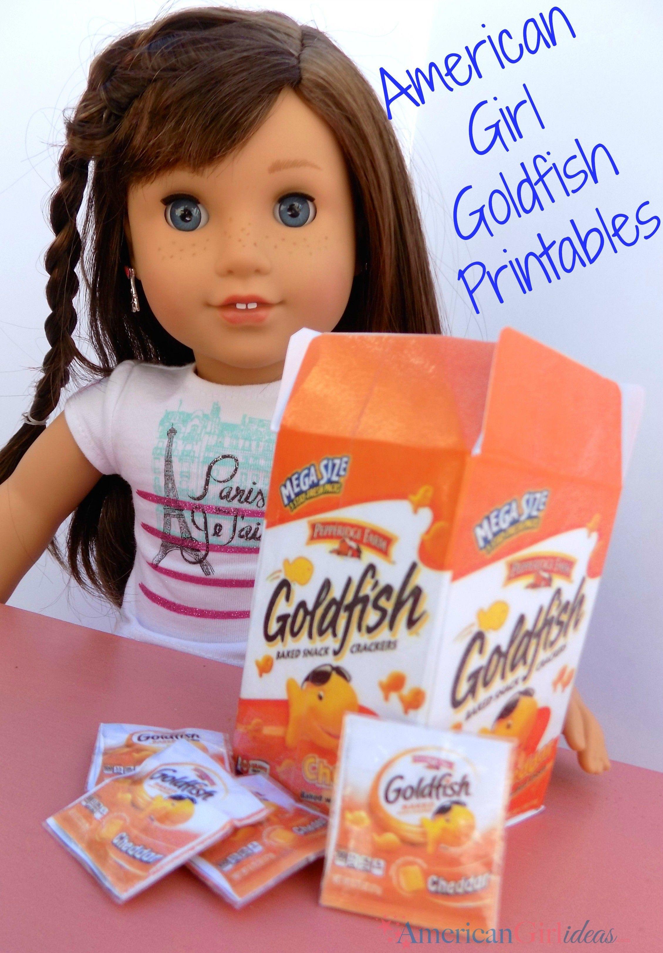 American girl goldfish printables american girl doll