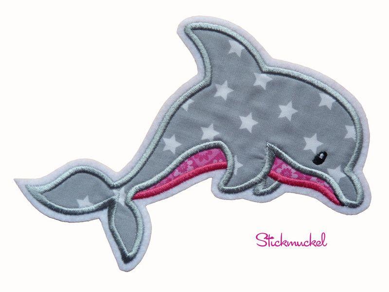 Aufnaher Delfin Xl Applikation Aufnaher Ein Designerstuck Von