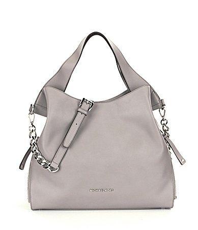 Iso Michael Kors Devon Large Shoulder Tote A Prefer In Pearl Grey Or Black Bags