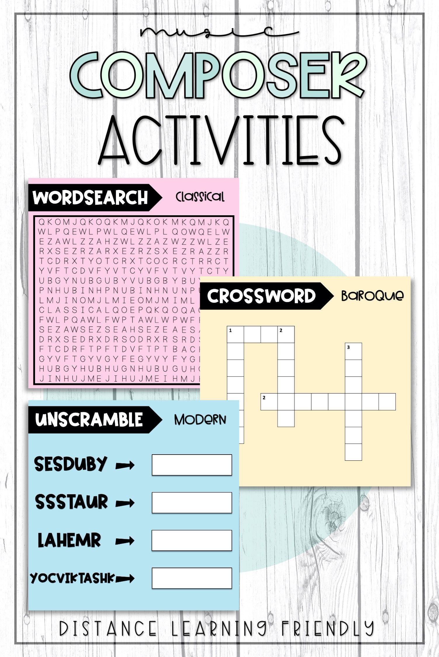 Composer Activities In 2020 Composer Activities Distance Learning Music Class Activities
