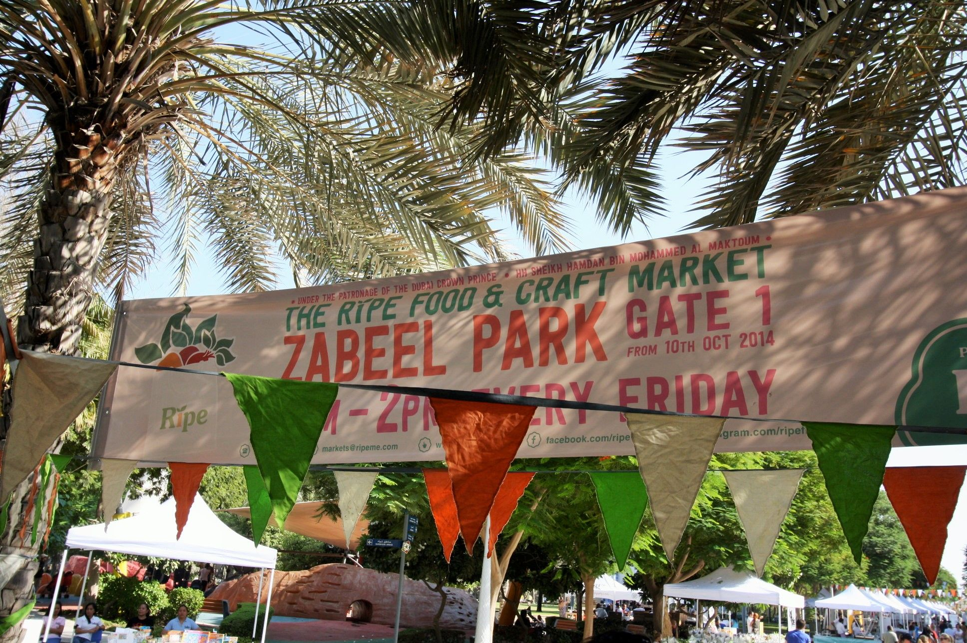 The #ripemarket is a #mydubai moment! Join us every Friday from 9am til 2pm at Zabeel Park, Gate 1, Dubai