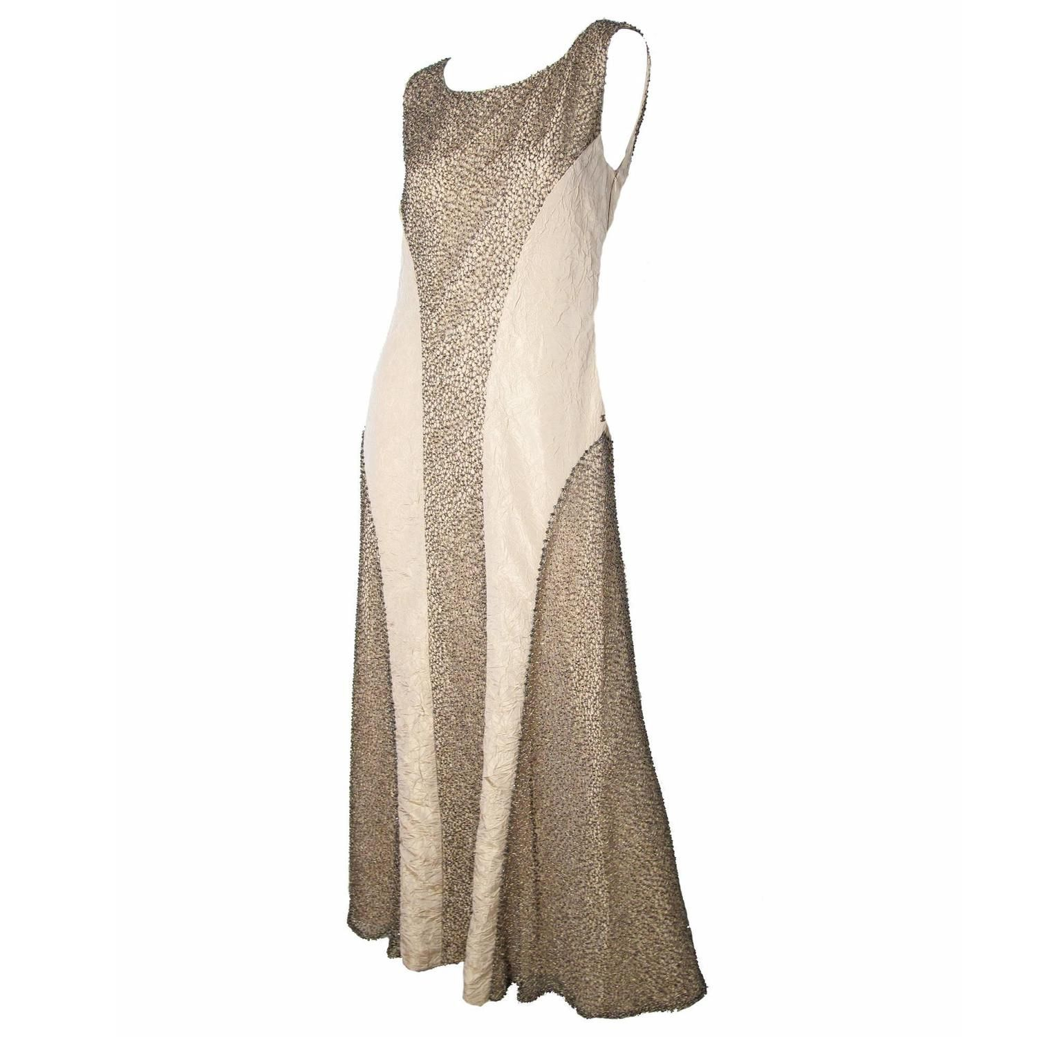 Chanel Evening Gown with Metallic Thread and Beading - Sale | See ...