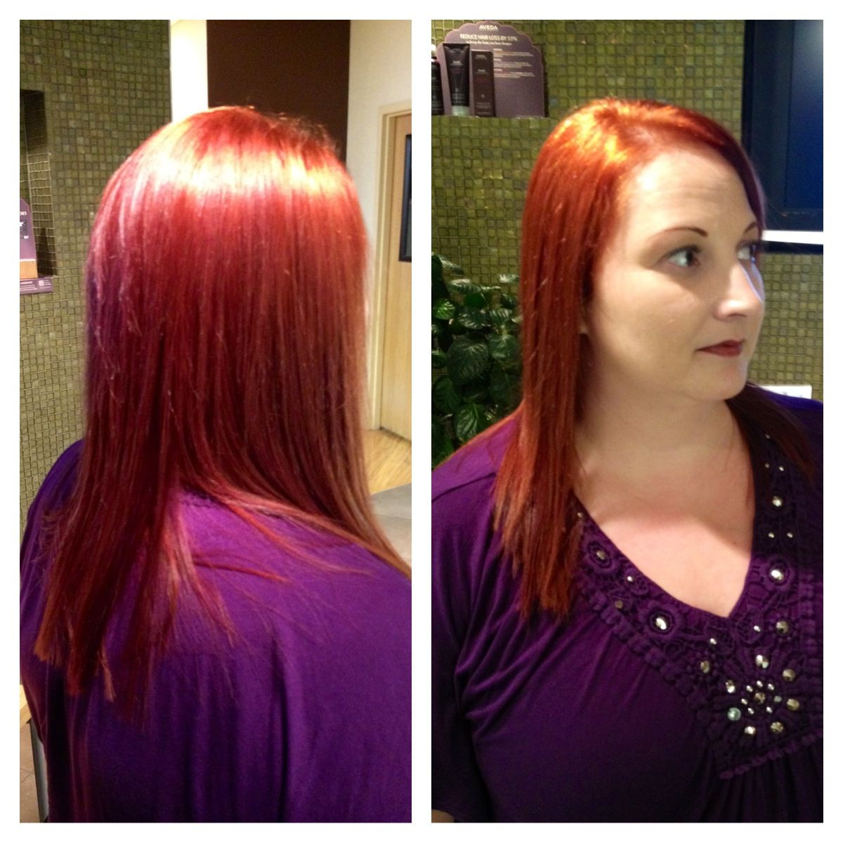 One of the new colors from the Neo Goth collection from Aveda on Alison by our own, Bobby!  Beautiful color!