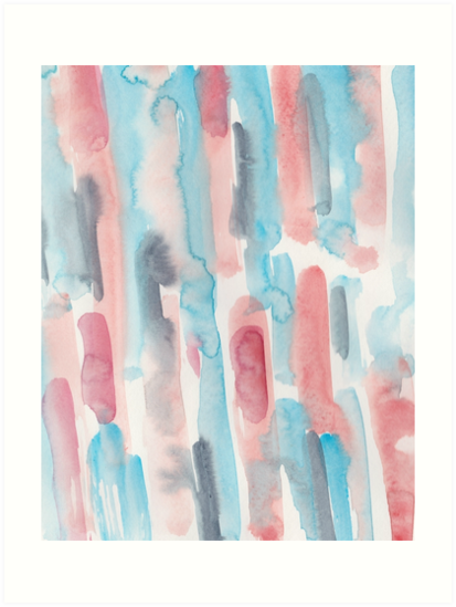 5 190224 Watercolour Pattern Abstract Art Print By