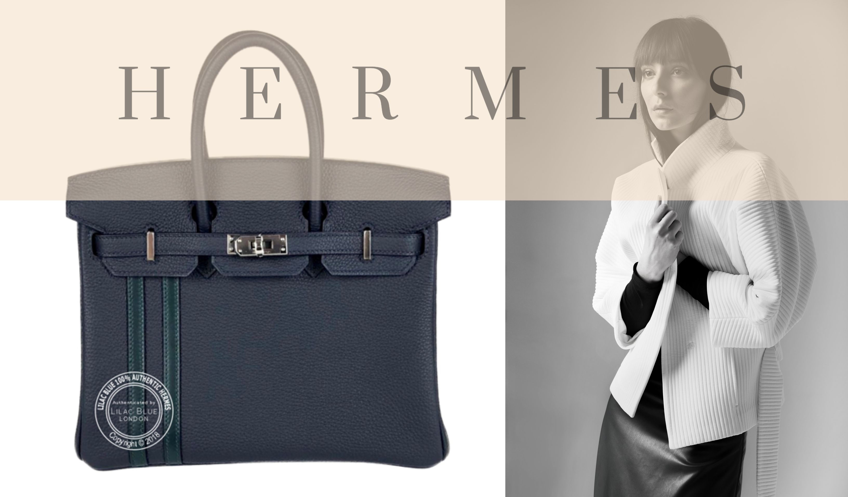 1b7ca0e80bcf This unusual Birkin Officier in dark Bleu Nuit features two stripes in Vert  Cypress to one