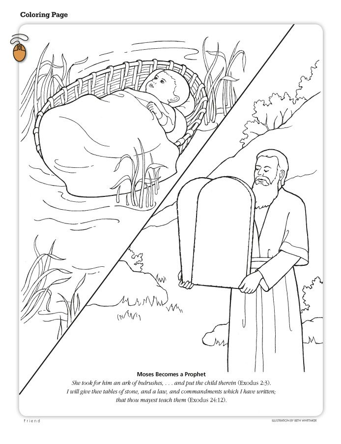 Moses Becomes A Prophet Coloring Page