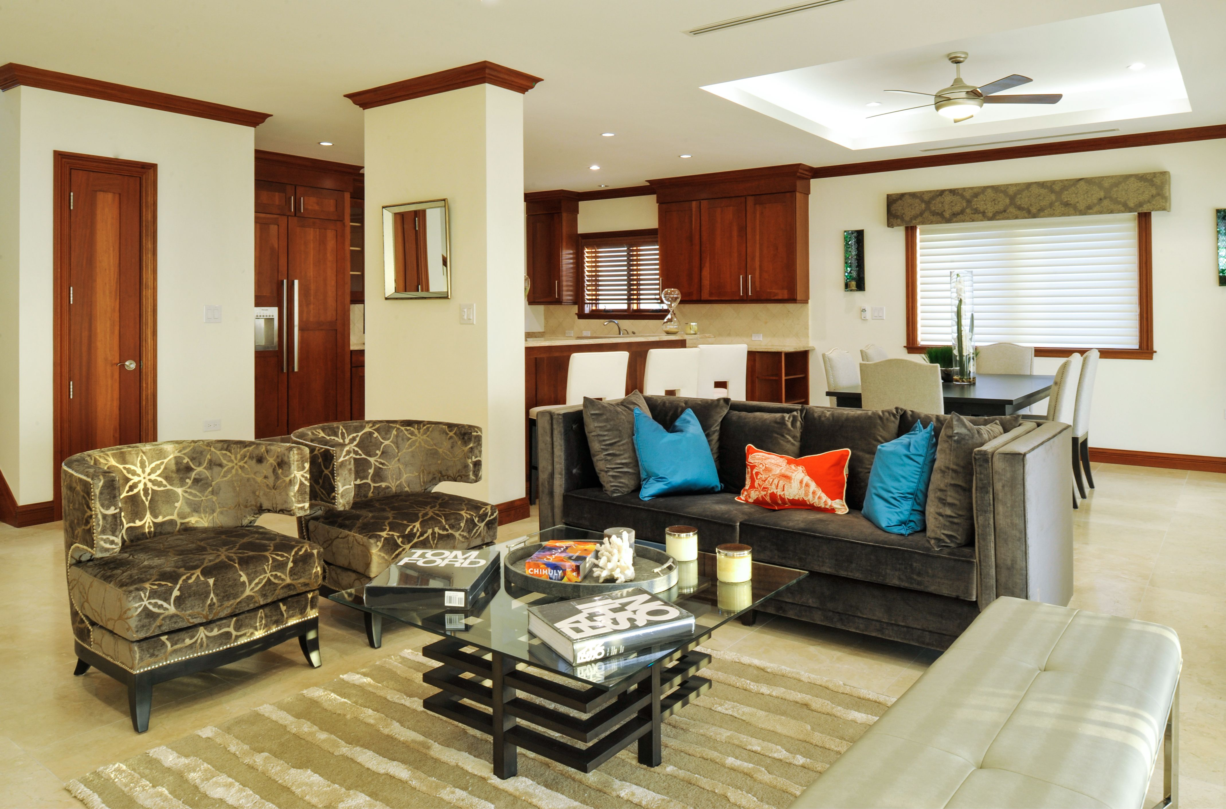 A Shot Of The Family Room From Casa Luna Project Interior Design Cayman Islands