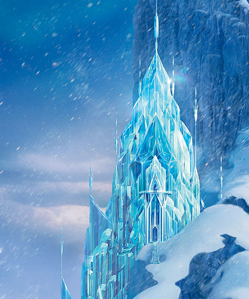 elendale castle from frozen ice castle s many months in. Black Bedroom Furniture Sets. Home Design Ideas