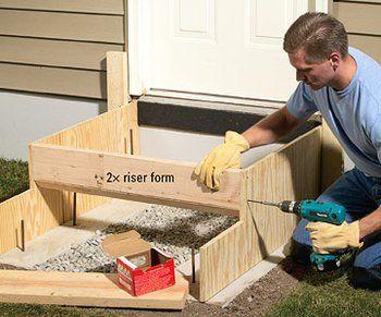 How to Pour Concrete Steps #betonblockgarten