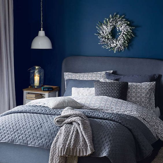 33 Epic Navy Blue Bedroom Design Ideas to Inspire You images