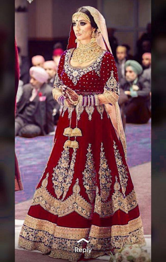 32bba2173add INDIAN PAKISTANI DESIGNER BRIDAL TRADITIONAL PARTY WEAR WEDDING LEHENGA  CHOLI